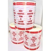 Conjunto de 3 Rolos -Etiqueta Lacre de Segurança