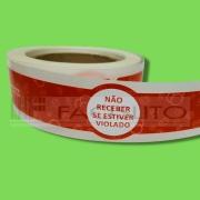 Etiqueta Lacre para  Copo Bolha e Marmita/Delivery Ifood ou Rappi