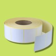 Etiquetas couche  3.4 X 2.3 X 3  cm com ribbon