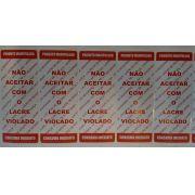 ETIQUETAS LACRE DE SEGURANÇA 89MM X 30 ROLO COM 1000 PAPEL COUCHE