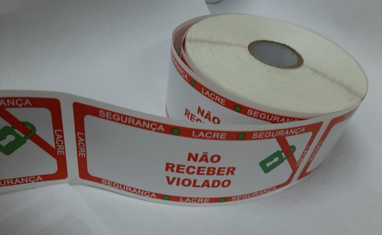 ETIQUETA LACRE DE SEGURANÇA COM CORTES