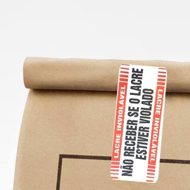 Etiqueta Lacre de Segurança com Cortes para Delivery