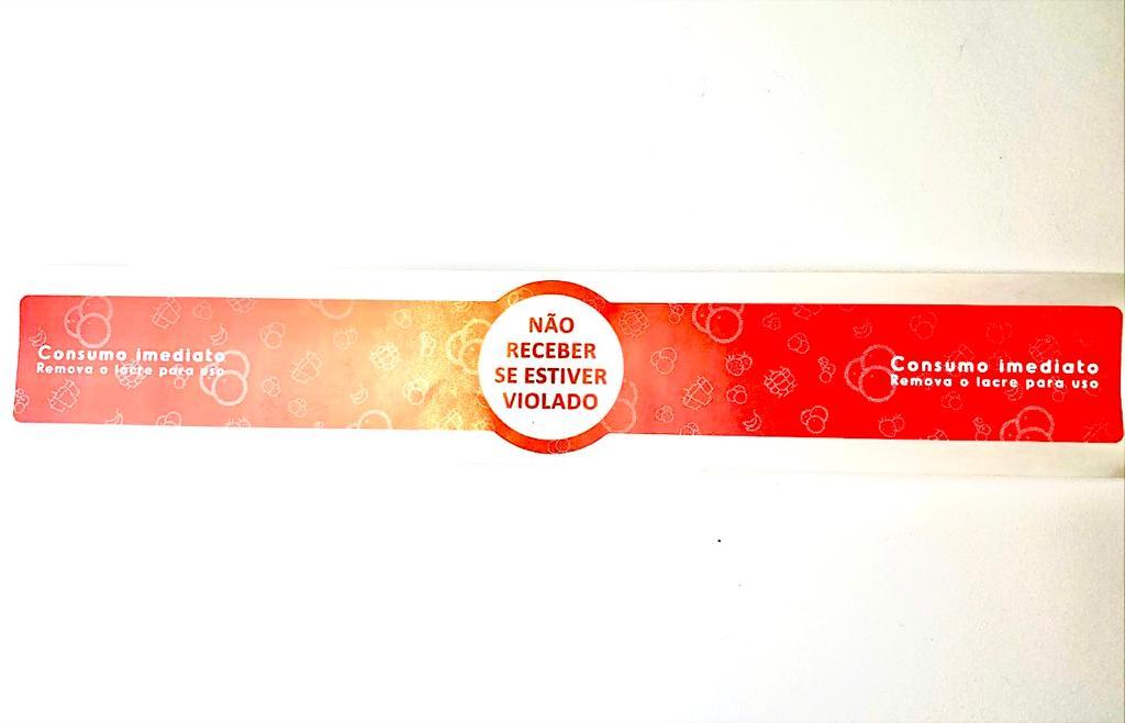 Etiqueta Lacre para  Copo Bolha e Marmita/Delivery