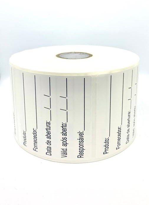 Etiqueta Anvisa 6x6cm - BOPP Plastificado