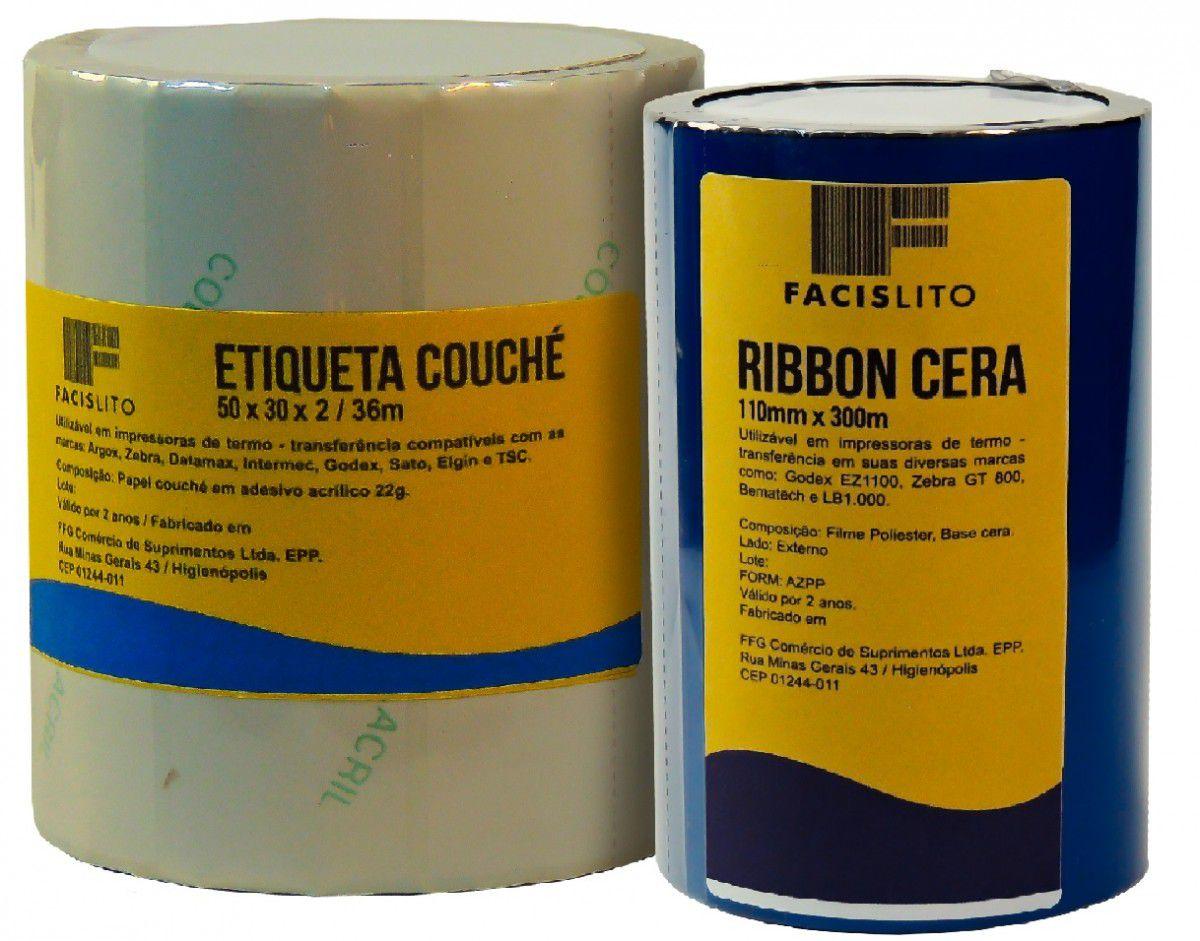 ETIQUETAS COUCHE 34 X 23 X 3 COM RIBBON