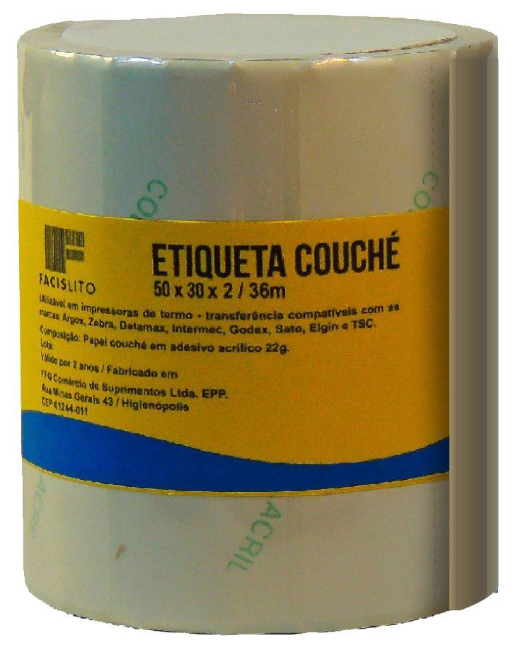 ETIQUETAS COUCHE 34x23x3MM - 30M - 3400 ETIQUETAS/ROLO