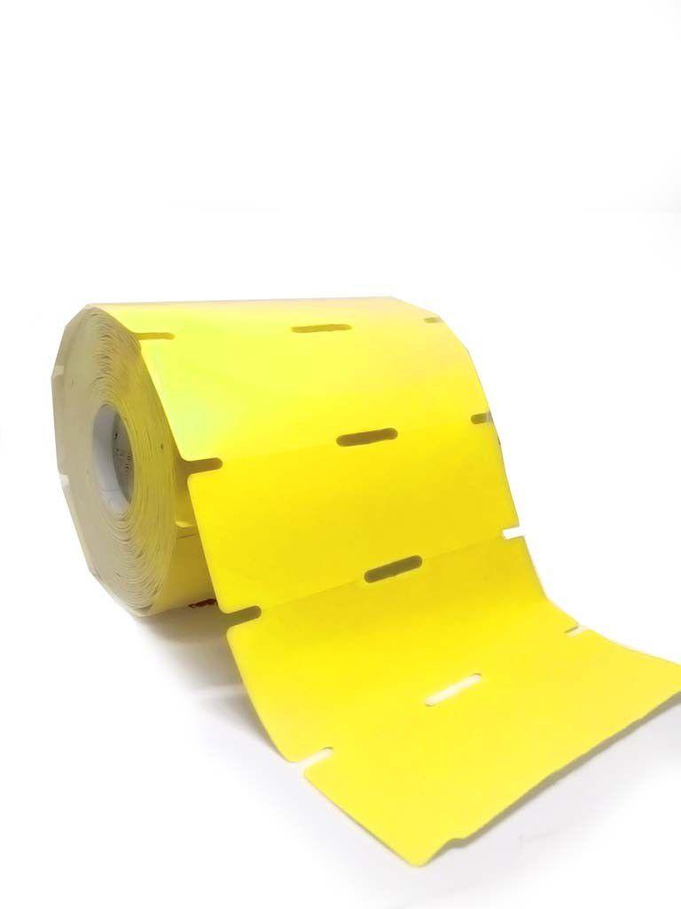 Etiquetas para gôndola rolo com 1000  amarela