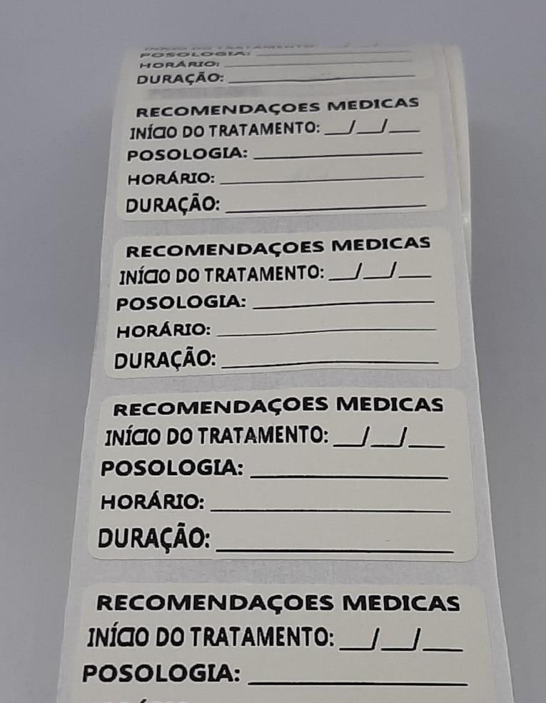 Etiquetas para posologia