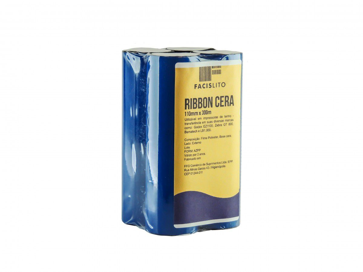 RIBBONS CERA 110MM X 74M COM 4 UN