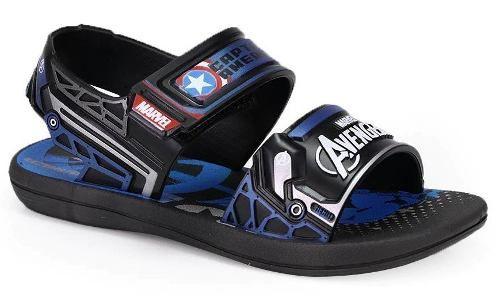 Sandália Grendene Avengers Preto/azul 21851
