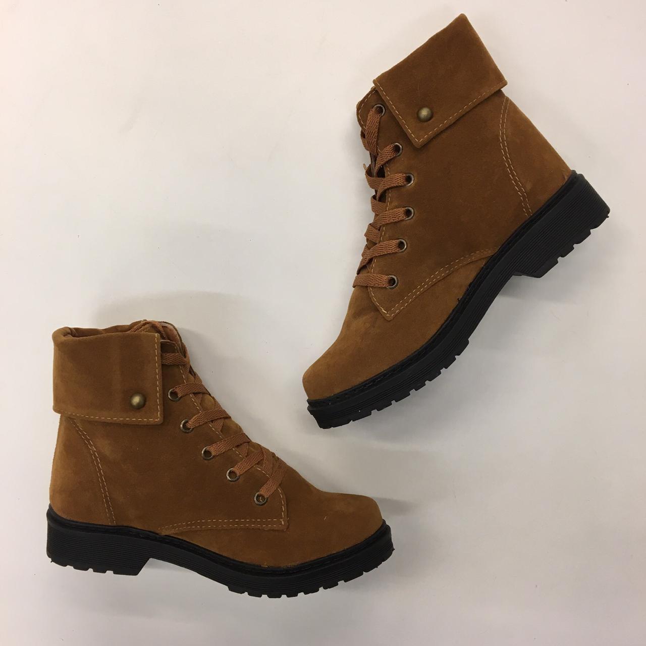 Coturno Duratti Shoes Camurça Marrom