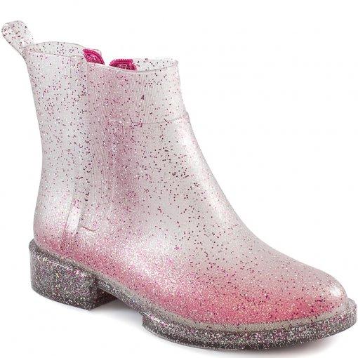 Galocha Petite Jolie Pj4115 Infantil Pink Gliter