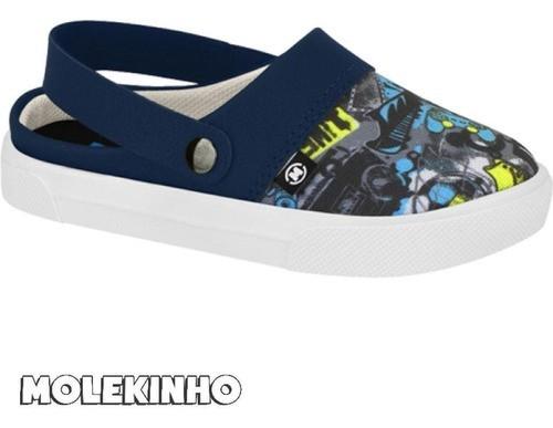 Sandalia Babuche Bebê Molekinho 2133.140 azul estampado