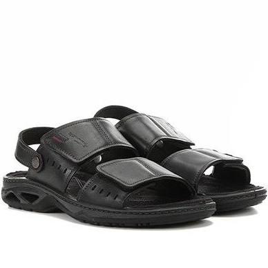 Sandália Masculina Velcro Pegada 132904-03 Preto