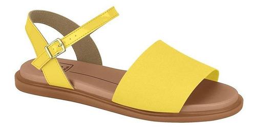 Sandália Rasteira Moleca 5450.100 Amarelo