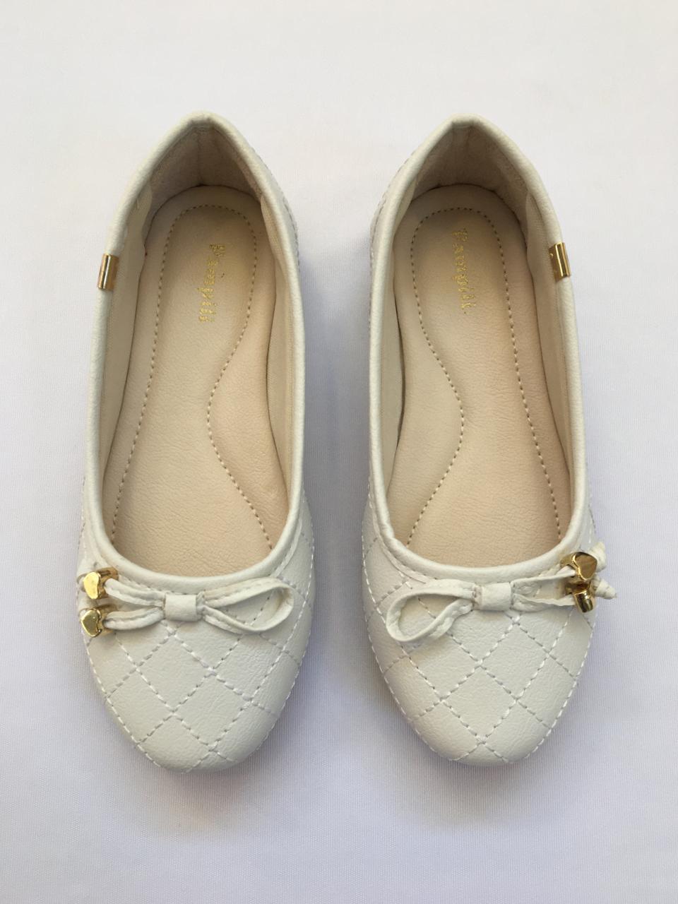 Sapatilha Pampili bailarina branco 188.381