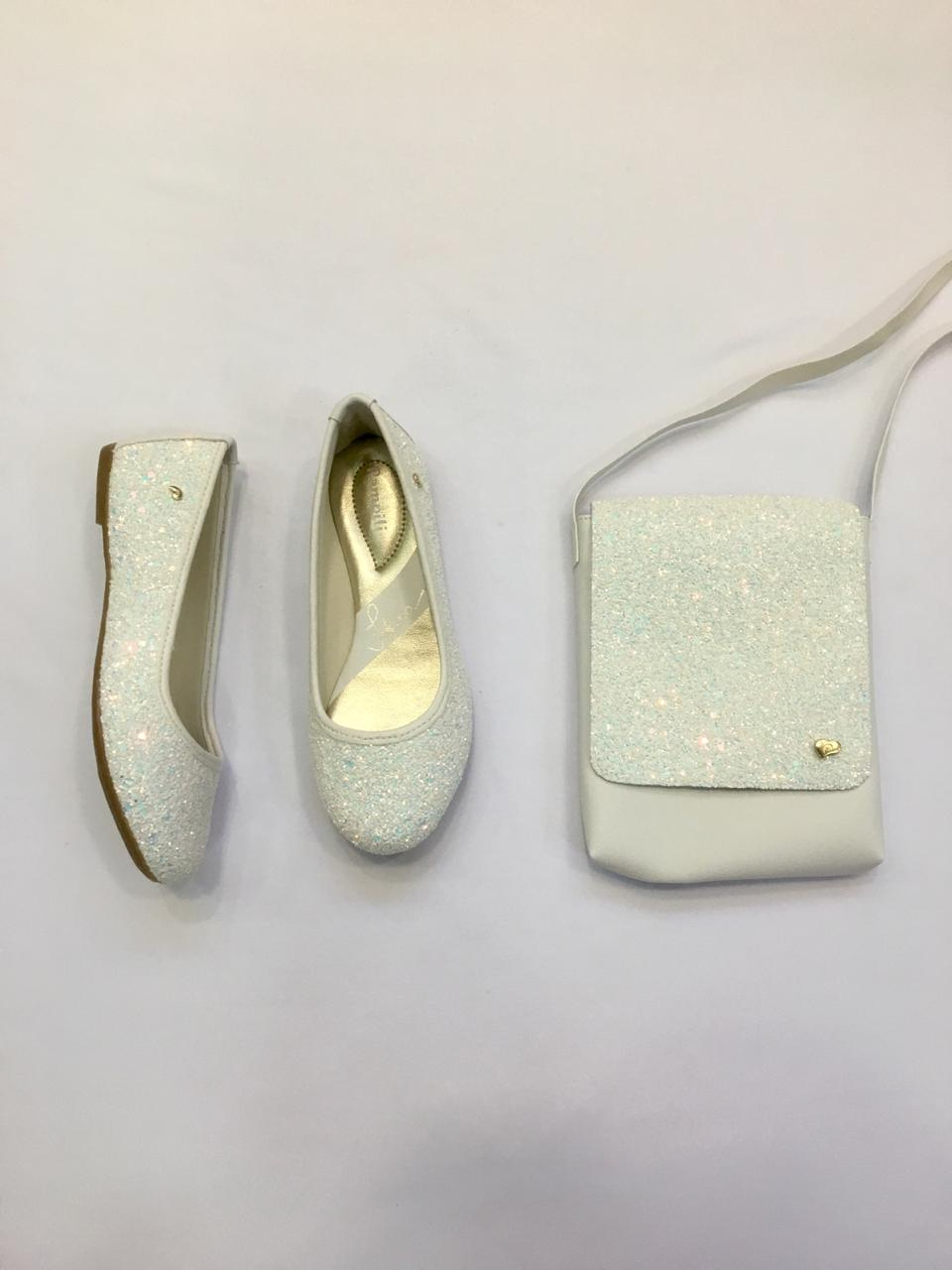 Sapatilha Pampili Super Fofura Branco 295.251 + Bolsa