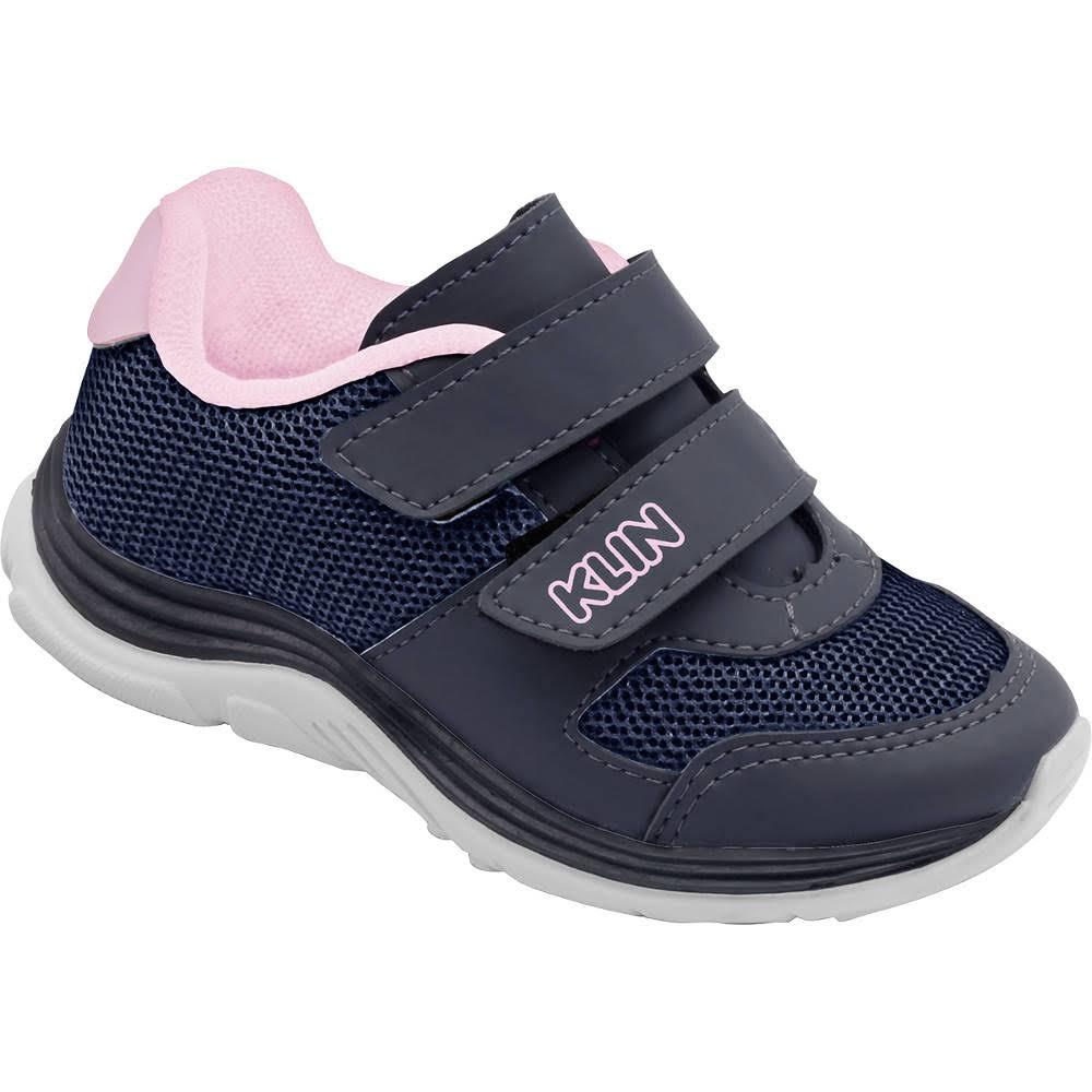 Tênis infantil Klin Baby Sport 004029 Azul/ Rosa