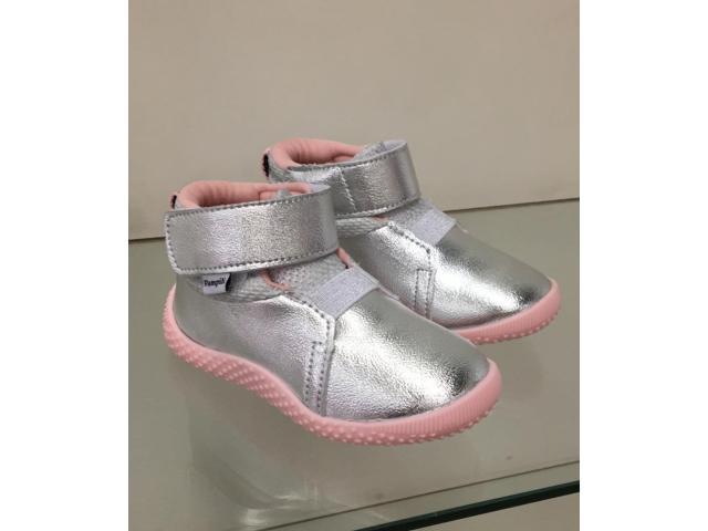 Tênis Infantil Pampili Baby calce 657.008 Prata