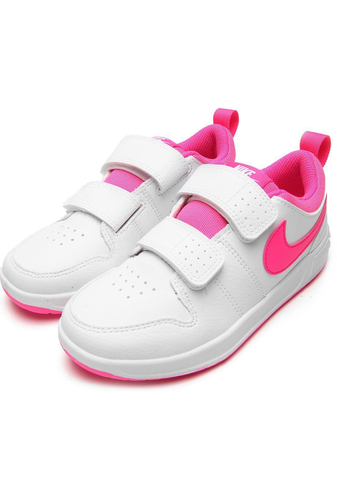 Tênis Nike Infantil Pico 5 Branco/ Pink