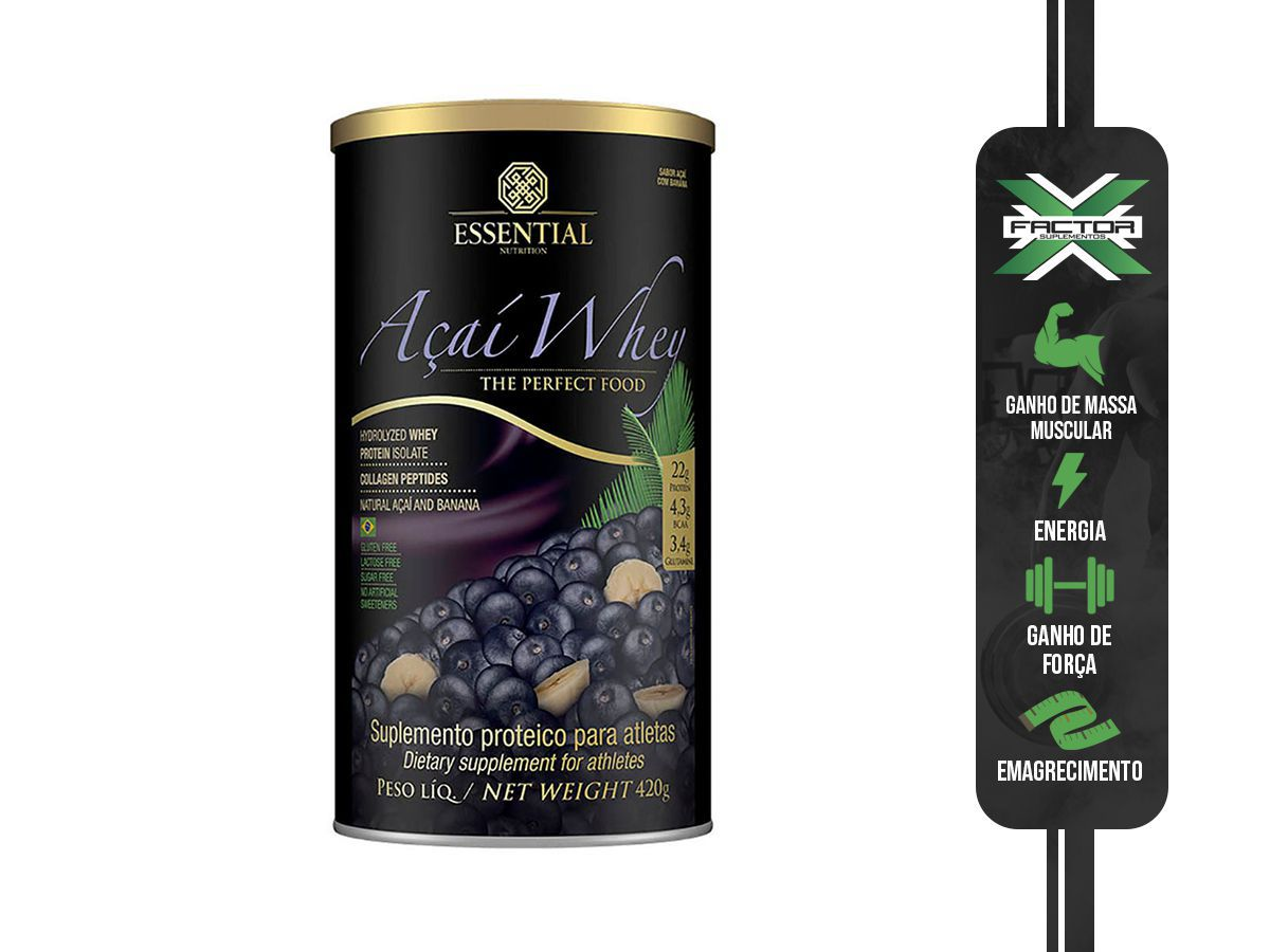 AÇAI WHEY (420G) ESSENTIAL NUTRITION