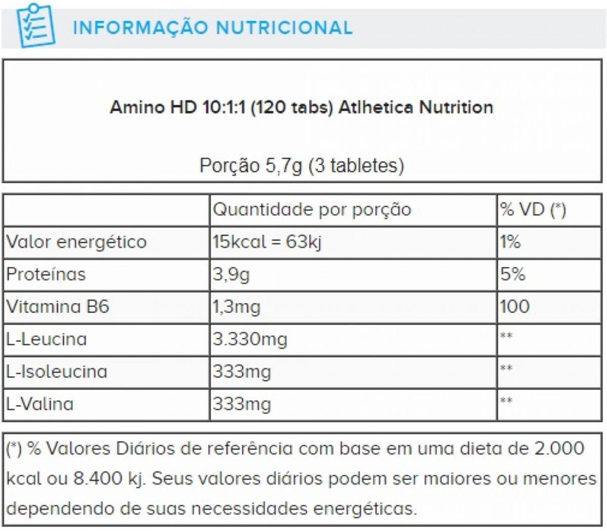 AMINO HD 10:1:1 120 ATBLETES ATLHETICA NUTRITION