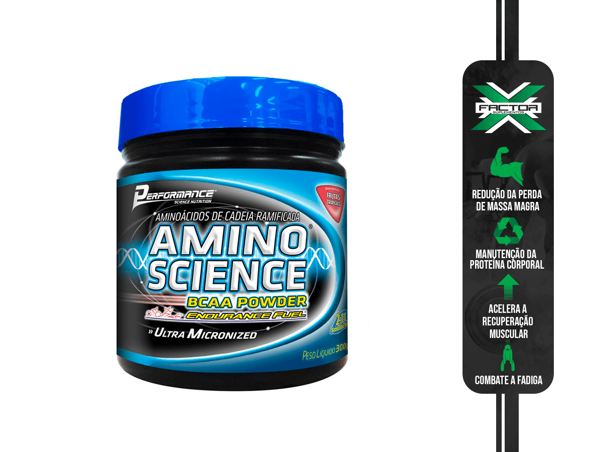 AMINO SCIENCE BCAA PÓ PERFORMANCE 300G