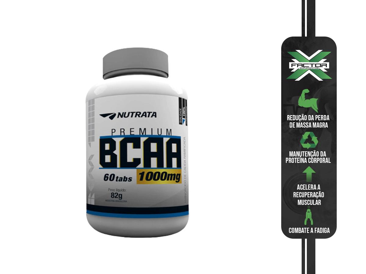 BCAA 1G 60 CAPS - NUTRATA