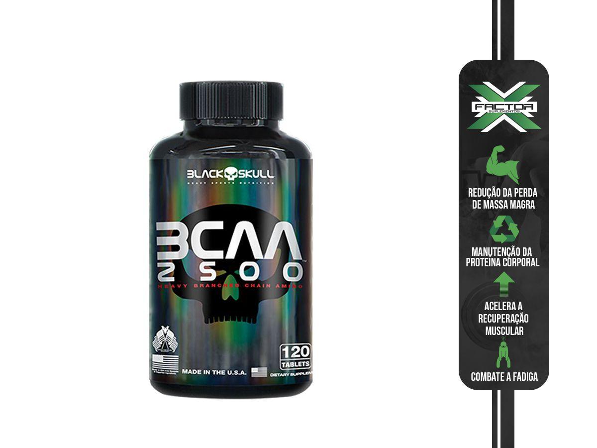 BCAA 2500 (120TABS) - BLACK SKULL