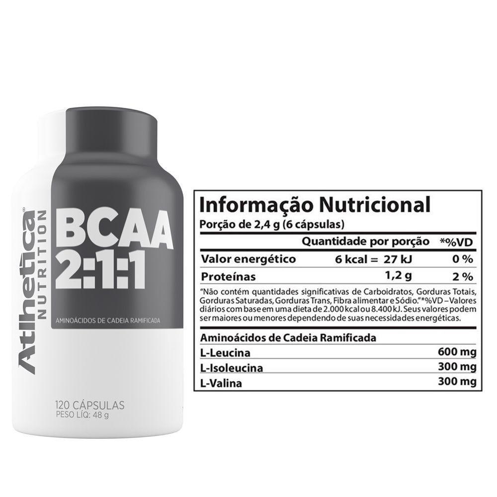 BCAA 2:1:1 120 CAPS ATLHETICA NUTRITION