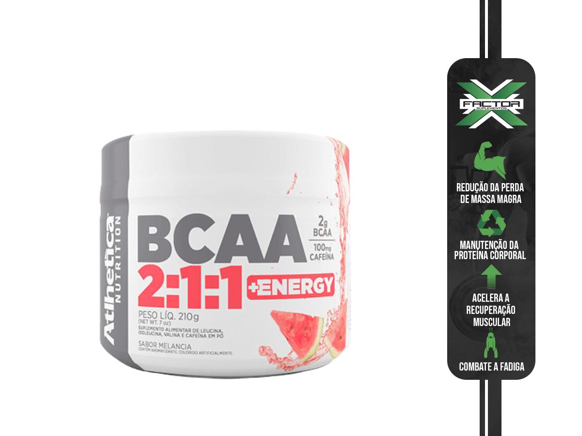 BCAA 2:1:1 + ENERGY - 210G ATLHETICA