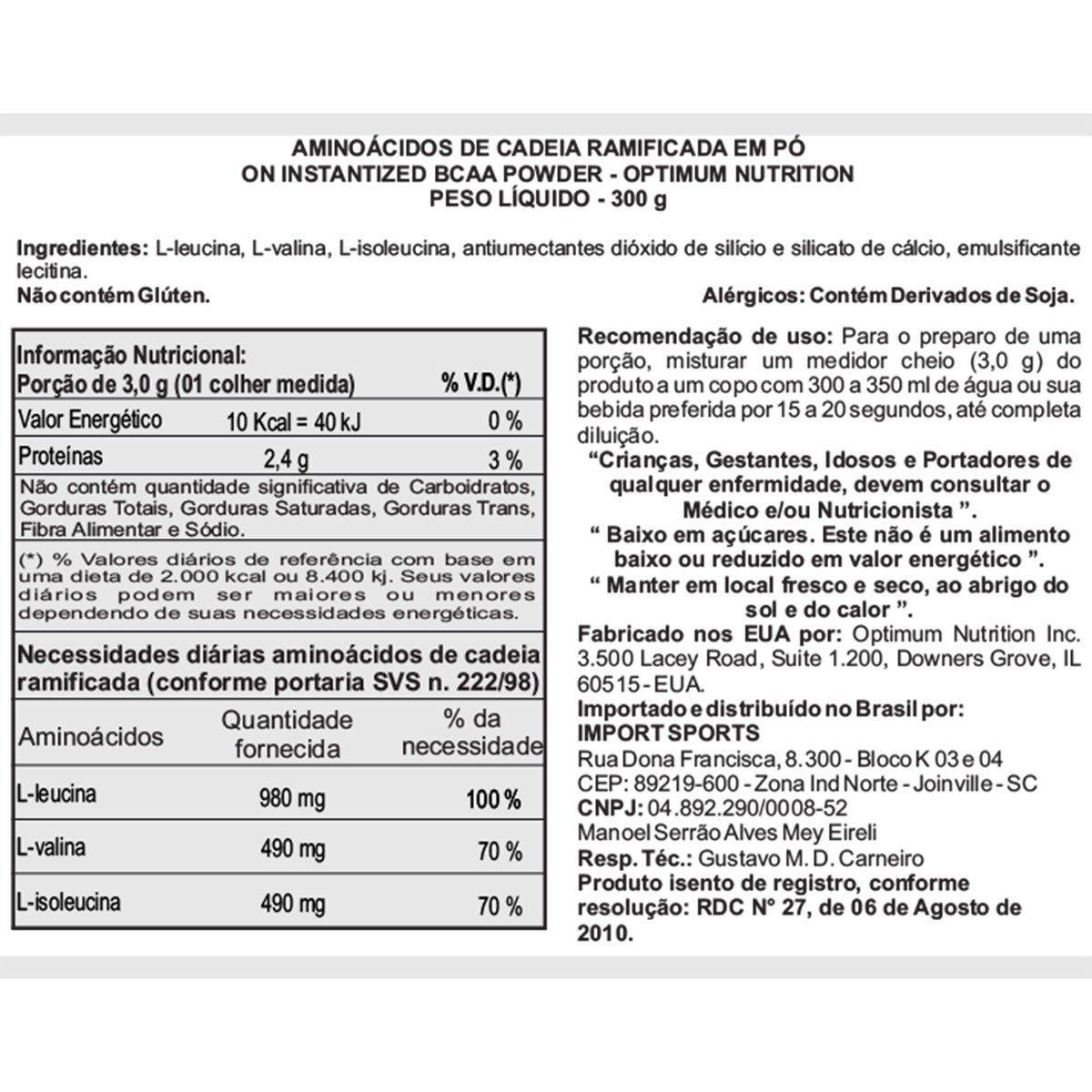 BCAA POWDER (300G) BLACK LINE OPTIMUM NUTRITION