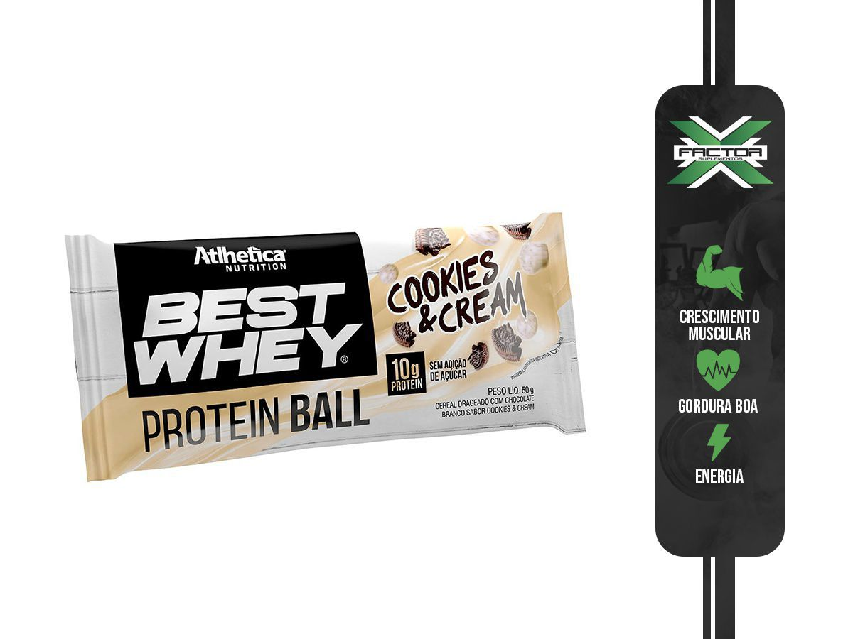 BEST WHEY PROTEIN BALL (UNIDADE-50G) ATLHETICA NUTRITION