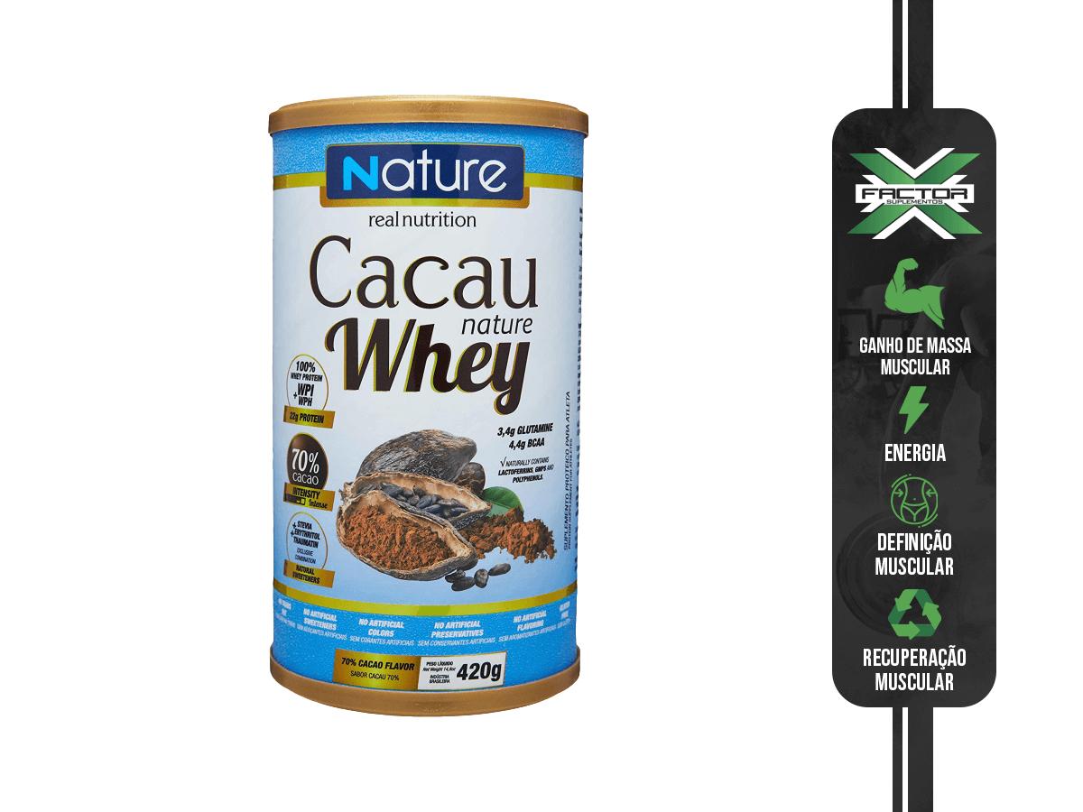 CACAU NATURE WHEY 70% 420G - NUTRATA