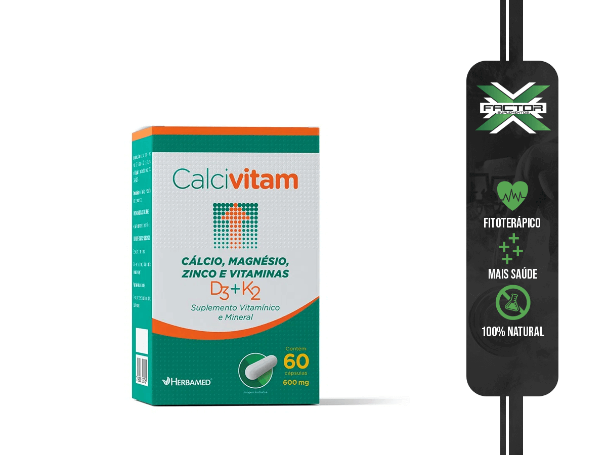CALCIVITAM 60 CAPS 600MG HERBAMED