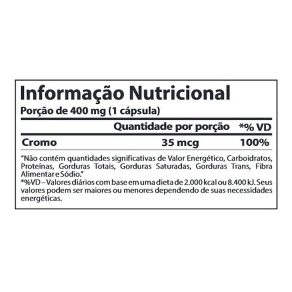 CHROMIUM PICOLINATE (60CAPS) ATLHETICA NUTRITION
