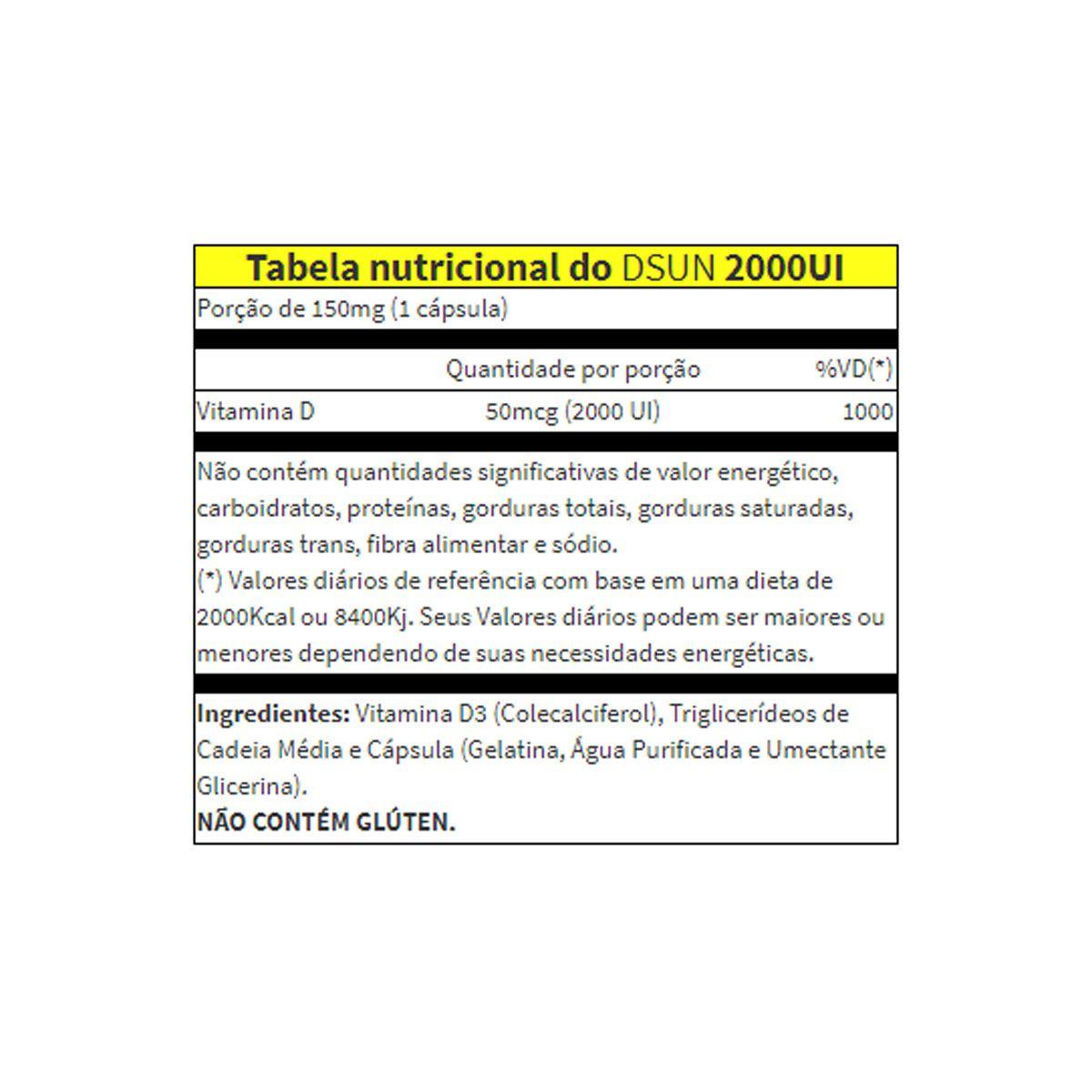 CLEANLAB DSUN (VITAMIN D3 2000UI) 100 CAPSULAS ATLHETICA