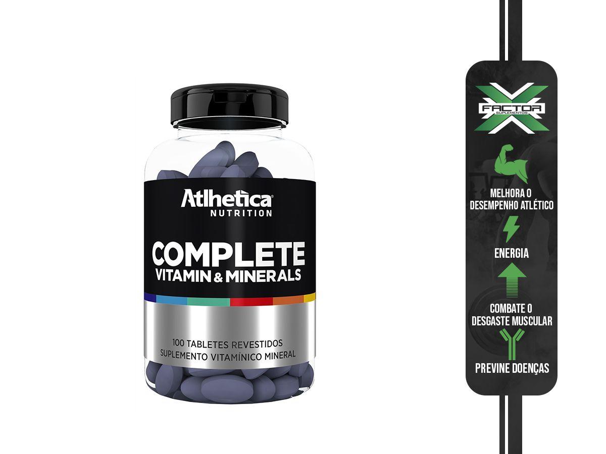 COMPLETE MULTI-VIT - 100 TABS - ATLHETICA NUTRITION