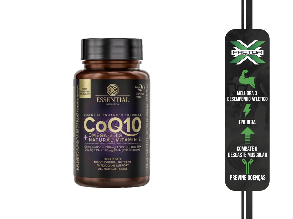 COQ10 + OMEGA 3TG + NATURAL VITAMIN E 60CAPS - ESSENTIAL