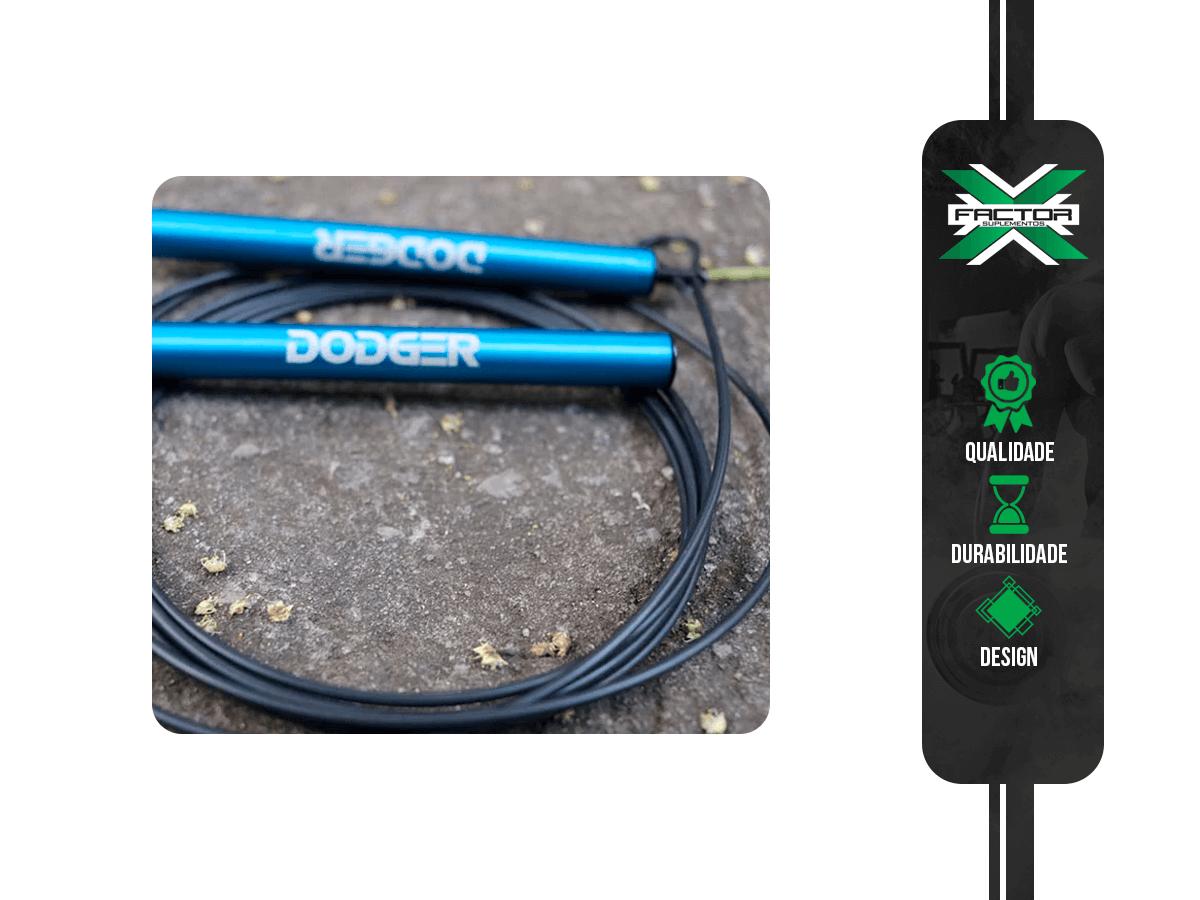 Corda Speed Rope DODGER FITNESS - Azul