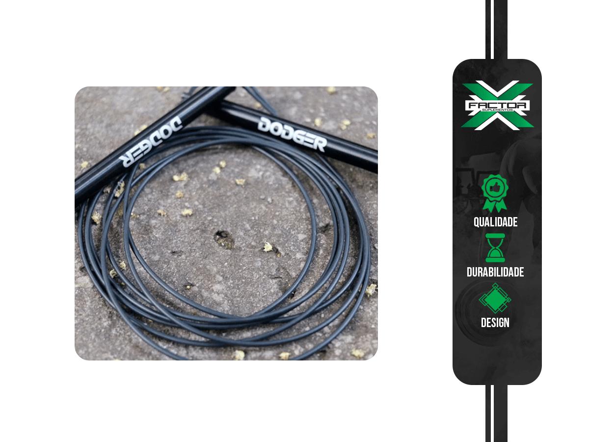 Corda Speed Rope DODGER FITNESS - Preta