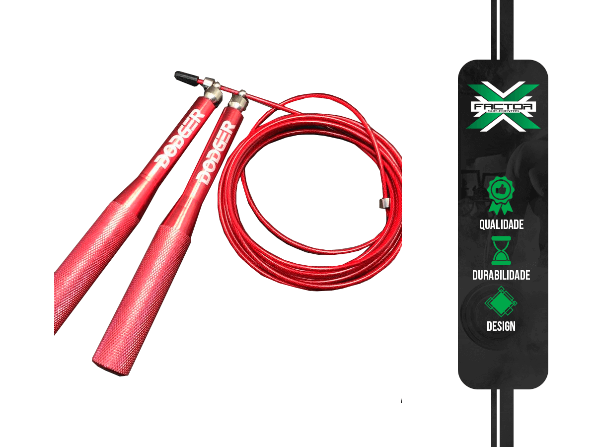 Corda Speed Rope DODGER FITNESS - Vermelha