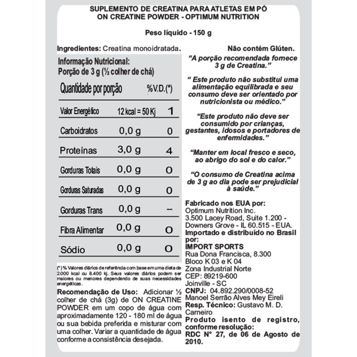 CREATINE (150G) BLACK LINE OPTIMUM NUTRITION