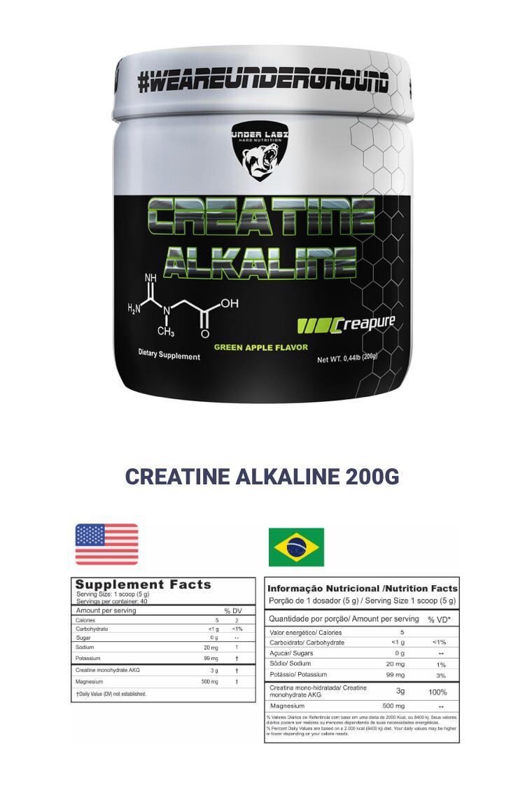 CREATINE ALKALINE 200G - UNDER LABZ