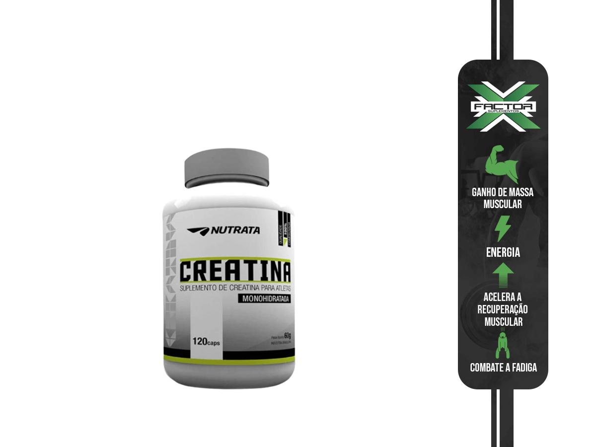 CREATINE PURE 120 CAPS - NUTRATA