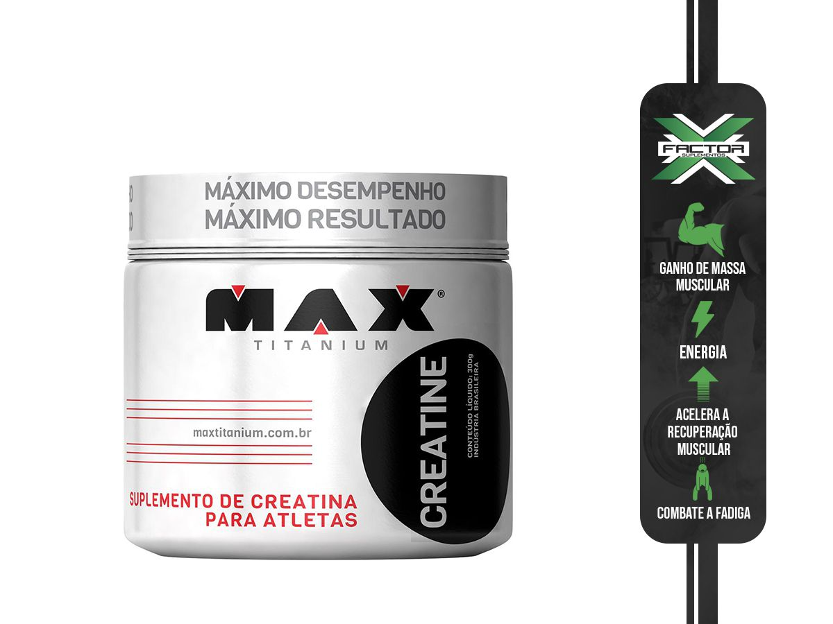 CREATINE TITANIUM (300G) MAX TITANIUM