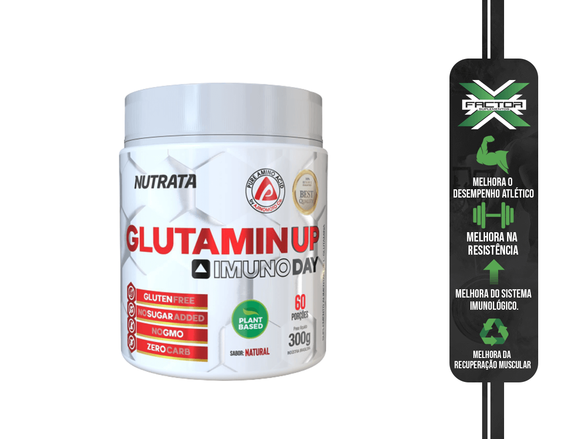 GLUTAMIN UP IMUNO DAY 300G - NUTRATA