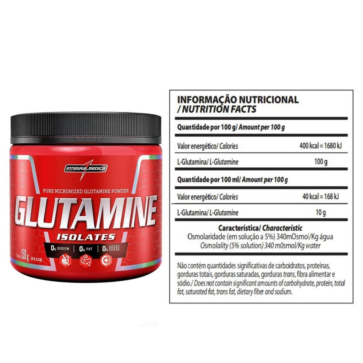 GLUTAMINA NATURAL150G IM INTEGRAL MEDICA