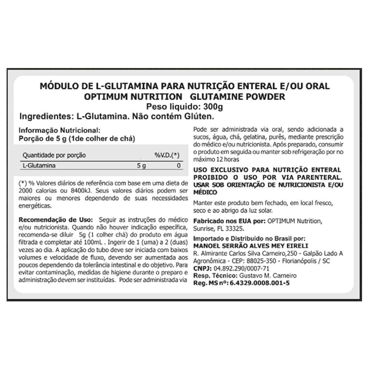 GLUTAMINA OPTIMUM BLACKLINE 300G