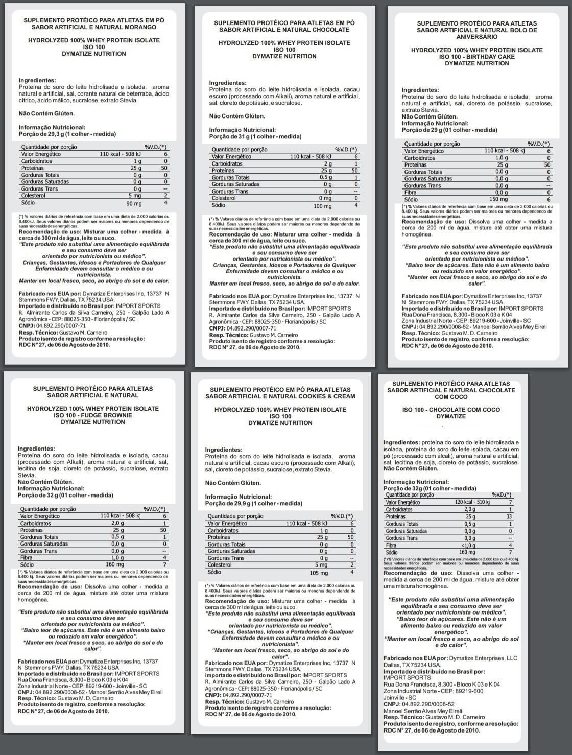 ISO 100 - 100% HIDROLYZED (1.6LB/726G) DYMATIZE